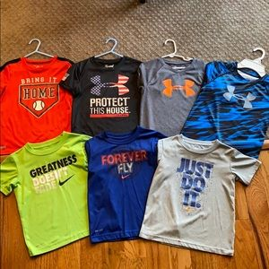 Boys Nike and Under Armour tees